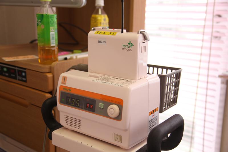 陣痛の波が解る機械です。