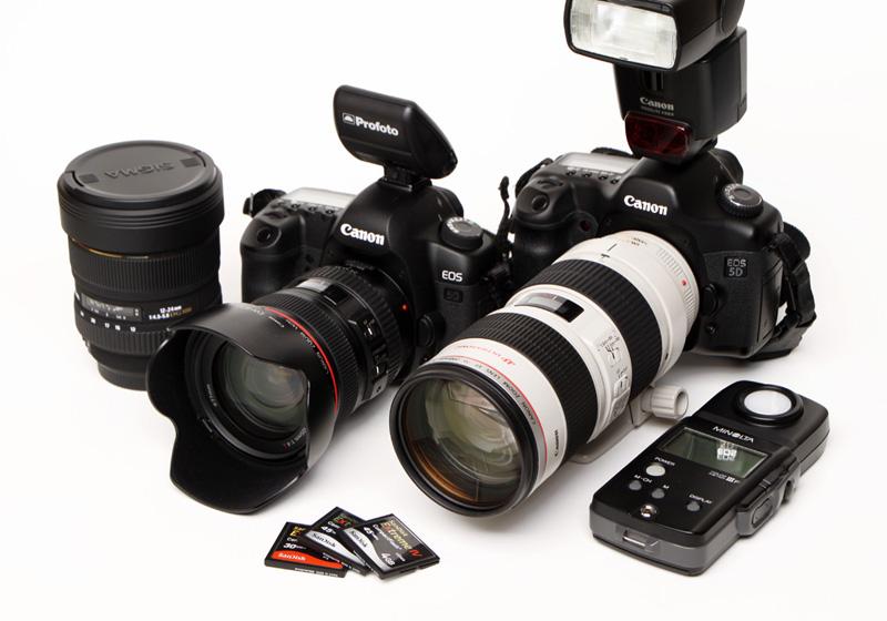 プロのカメラマンの機材